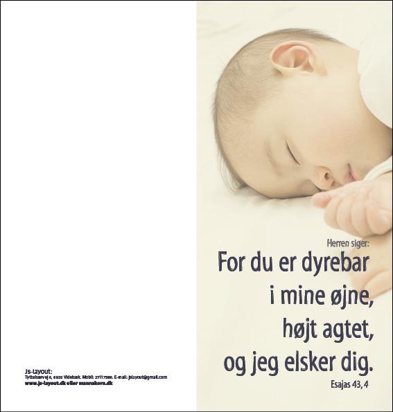 Esajas 43, 4 Dåbskort Image