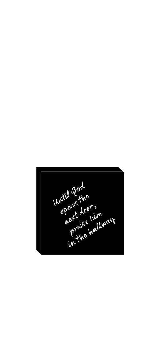 Until God opens the next door - 10x10 cm Image
