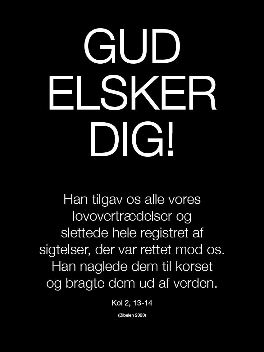 Gud elsker dig (30 x 40) Image